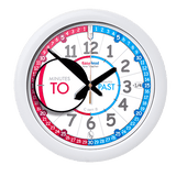 EasyRead Time Teacher Wall Clock Red Blue Past & To Face