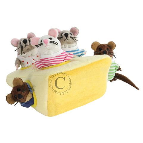 Mouse Family in Cheese - Hide Aways