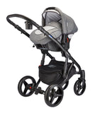 Mee-go Milano Black Sports Chassis Dove Grey Travel System