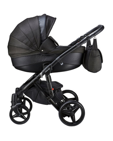 Mee-go Milano Black Sports Chassis Caviar Travel System
