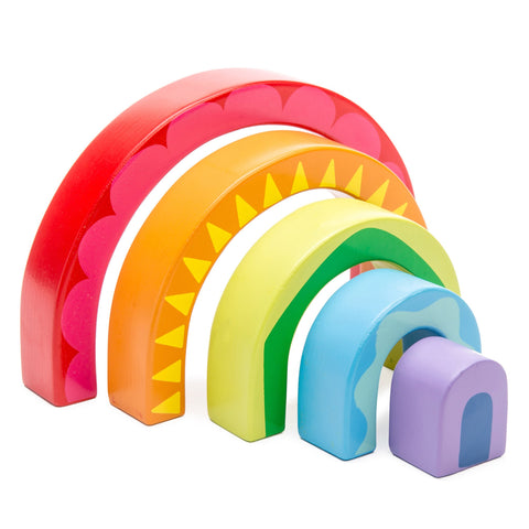 Le Toy Van- Rainbow Stacking Tunnel Toy