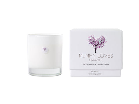 Mummy Loves Organics -Melting Body Candle - Retreat - Balances Mind & Body