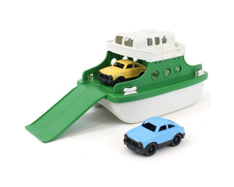 BigJigs - Green Toys - Ferry Boat with Cars - Green