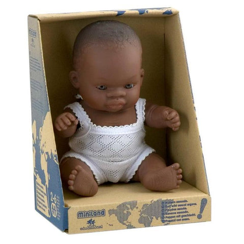 Miniland Baby Doll - African Girl 21cm