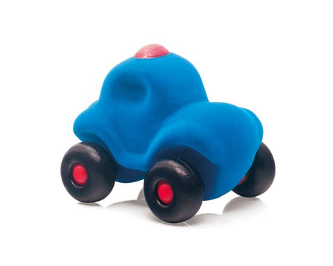 BigJigs - Rubbabu Police Car - Small Blue