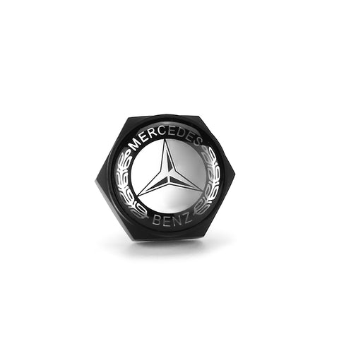 Mercedes Benz Black License Plate Bolts - MyValveCaps