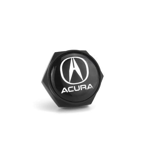 Acura Black License Plate Bolts - MyValveCaps