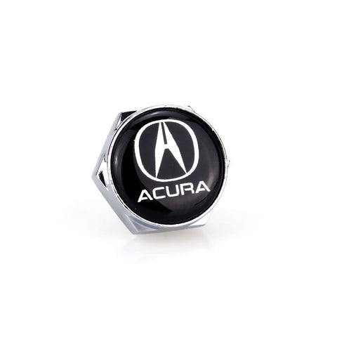 Acura Silver License Plate Bolts - MyValveCaps
