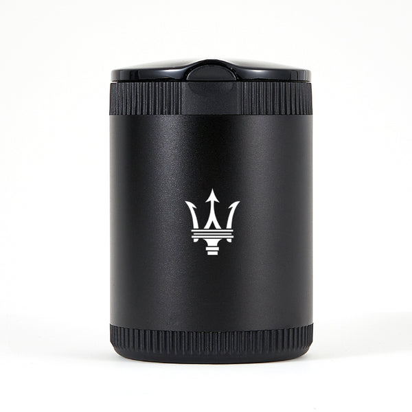 Maserati Black Laser Engraved Portable Led Ashtray ( Large )