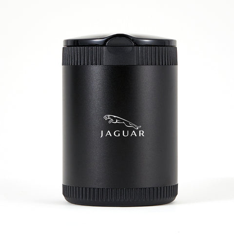 Jaguar Black Laser Engraved Portable Led Ashtray ( Large )