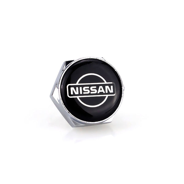 Nissan Silver License Plate Bolts - MyValveCaps