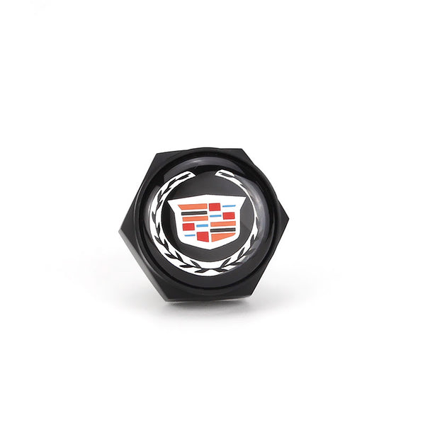 Cadillac Black License Plate Bolts - MyValveCaps