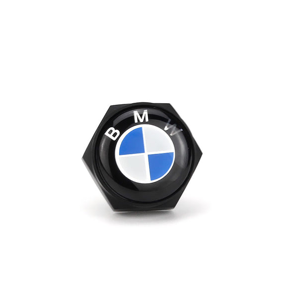 BMW Black License Plate Bolts - MyValveCaps