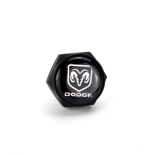 Dodge Black License Plate Bolts - MyValveCaps