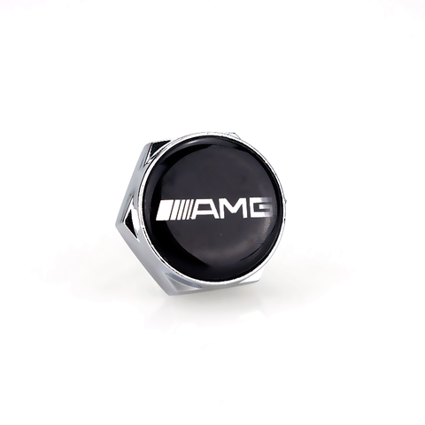 AMG Silver License Plate Bolts - MyValveCaps