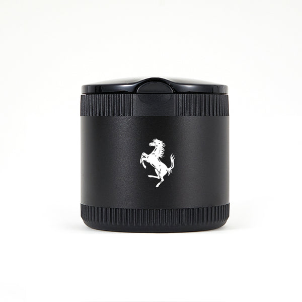 Ferrari Black Laser Engraved Portable Led Ashtray ( Small )