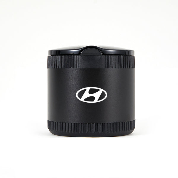 Hyundai Black Laser Engraved Portable Led Ashtray ( Small )