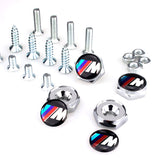 BMW M Series Silver License Plate Bolts - MyValveCaps