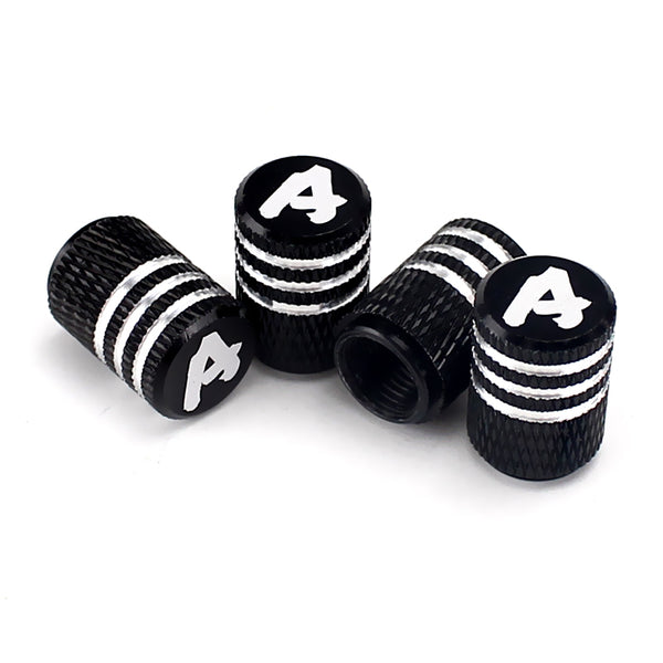 Alphabet A - Z Laser Engraved Tire Valve Stem Caps