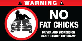 No Fat Chicks Stickers Set of 2