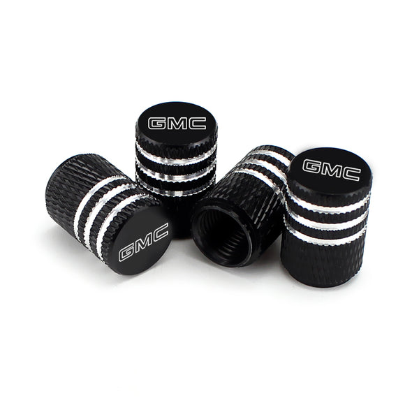 GMC Black Laser Engraved Tire Valve Caps - MyValveCaps