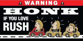Honk If You Love Rush Stickers Set of 2