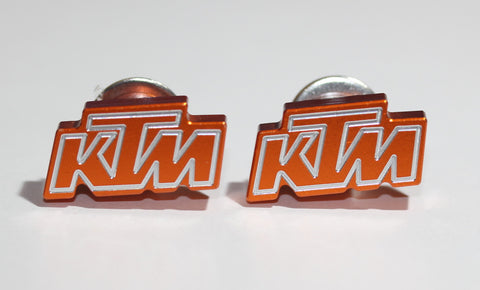 KTM Orange Metal License Plate Bolt - MyValveCaps