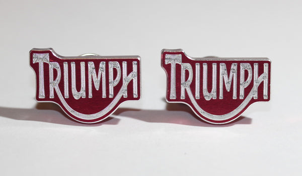 Triumph Red Metal License Plate Bolts