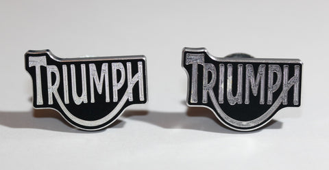 Triumph Black Metal License Plate Bolts - MyValveCaps