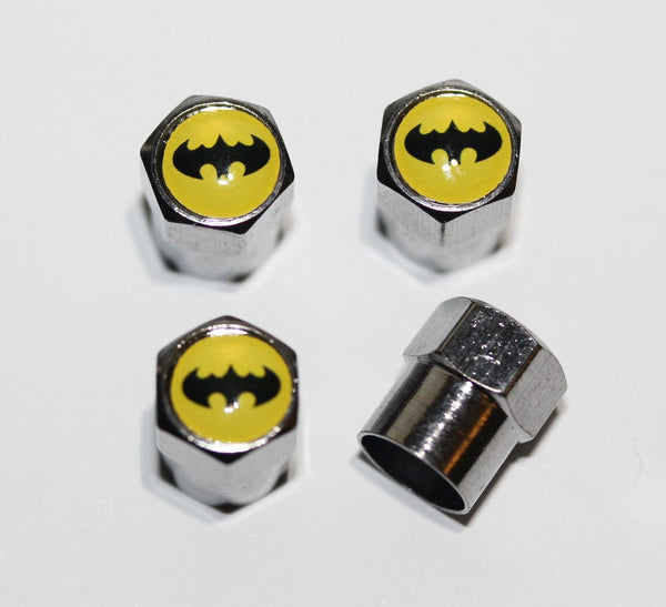 Batman Yellow Tire Air Valve Stem Caps - MyValveCaps