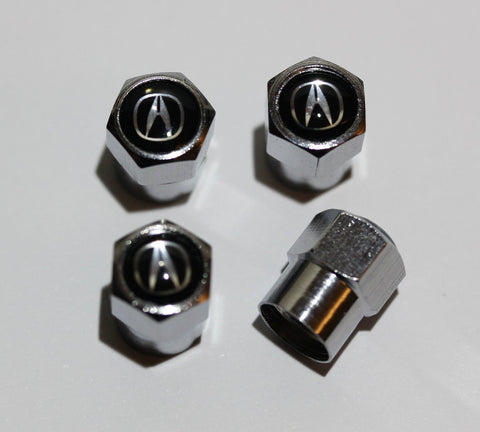 Acura Black Tire Valve Stem Caps - MyValveCaps