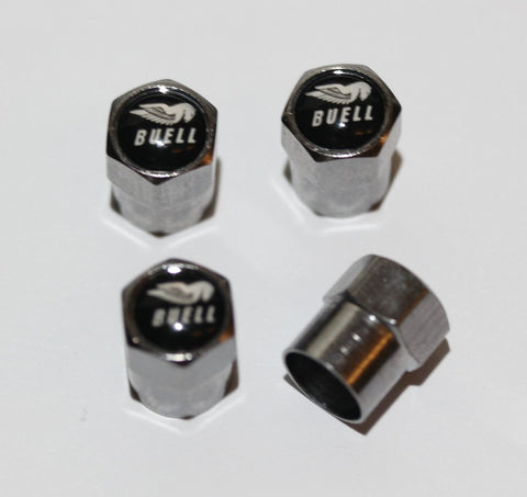 Buell Black Motorcycle Tire Valve Caps - MyValveCaps