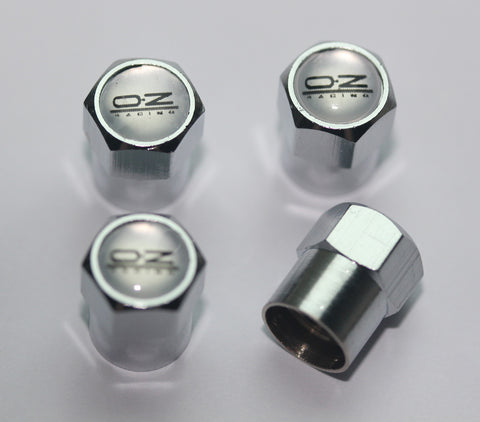OZ Racing Silver Tire Valve Caps - MyValveCaps