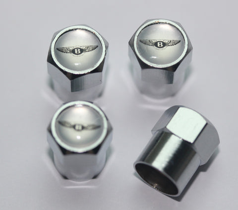Bentley Silver Tire Valve Caps - MyValveCaps