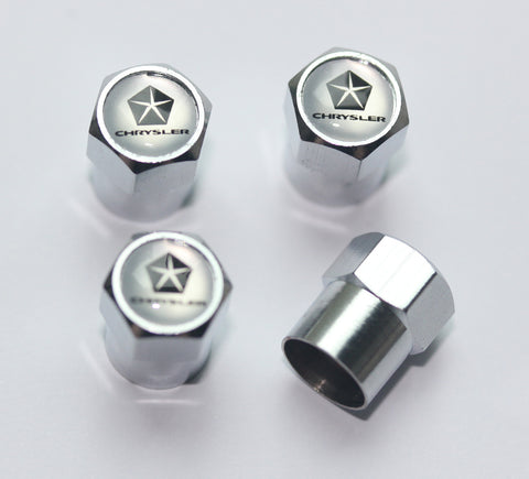 Chrysler Silver Tire Valve Stem Caps - MyValveCaps