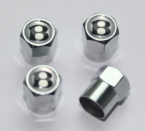 Bentley B Silver Tire Valve Caps - MyValveCaps