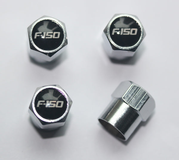 Ford F-150 Black Tire Valve Caps - MyValveCaps
