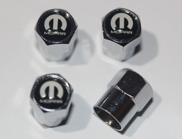 Mopar Black Tire Valve Stem Caps - MyValveCaps