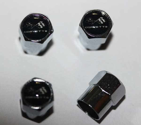 Chevrolet Corvette C3 Black Tire Valve Caps - MyValveCaps