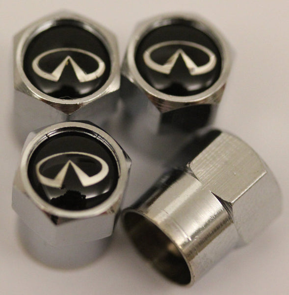 Infiniti Black Tire Valve Stem Caps - MyValveCaps