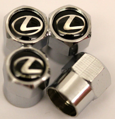Lexus Black Tire Valve Stem Caps - MyValveCaps