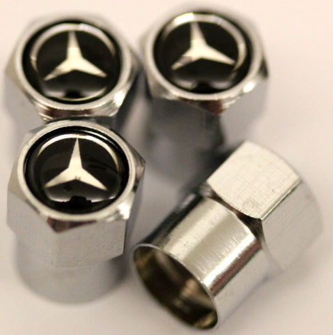 Mercedes Benz Black Tire Valve Stem Caps - MyValveCaps