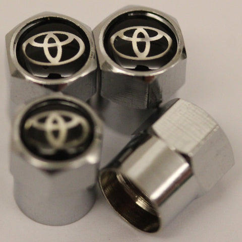 Toyota Black Tire Valve Stem Caps - MyValveCaps