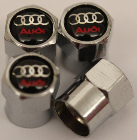 Audi Black Tire Valve Stem Caps - MyValveCaps