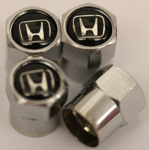 Honda Black Tire Valve Stem Caps - MyValveCaps
