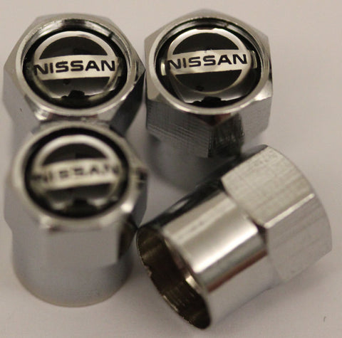 Nissan Black Tire Valve Stem Caps - MyValveCaps