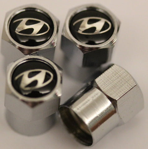 Hyundai Black Tire Valve Stem Caps - MyValveCaps
