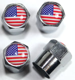 USA Flag Tire Valve Stem Caps