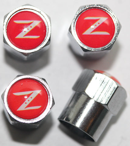 Nissan Z Red Tire Valve Stem Caps - MyValveCaps