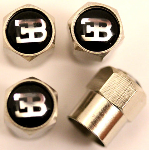 Bugatti Black Tire Valve Stem Caps - MyValveCaps